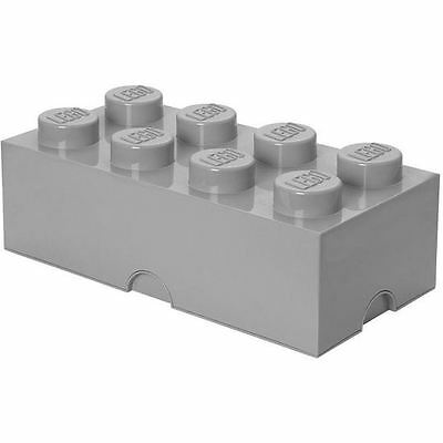 LEGO Storage Brick 8 Knobs Stone Grey