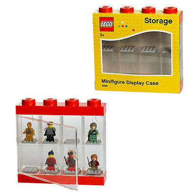 LEGO Small Minifigure Display Case Red