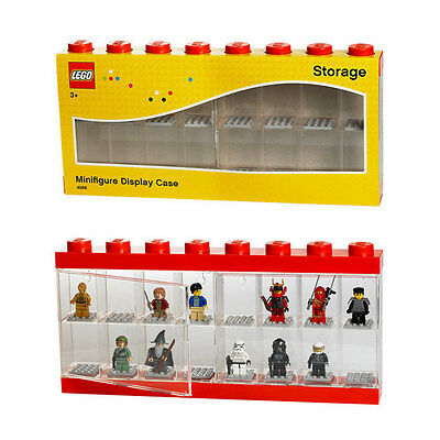 LEGO Large Minifigure Display Case Red