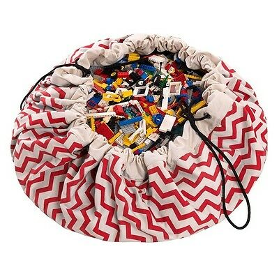 Play and Go Storage Bag, Zig Zag Red