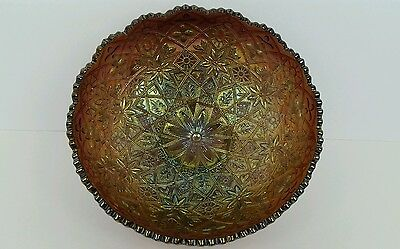 Carnival Glass Imperial Hattie Amethyst Iridescent Ice Cream Shaped Bowl VG