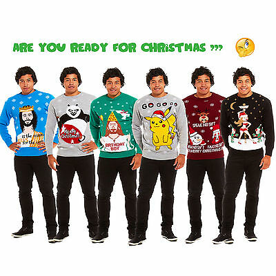 Christmas Xmas Unisex Womens Mens Ladies Novelty Sweater Retro Ugly Jumper 2016