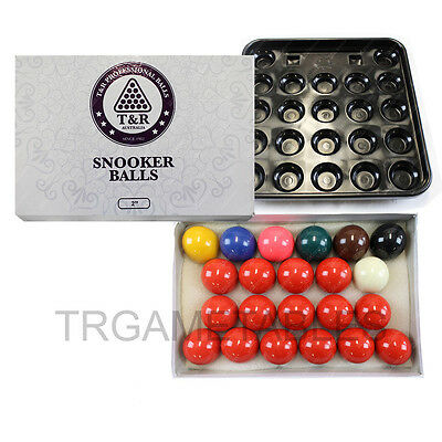 Snooker Balls & Ball Tray Set - 2 Inch & 2-1/16 Inch Available Extra Chalk Space