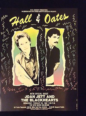 Hall And Oats Original Concert Poster From 1982 - Perfect Condition