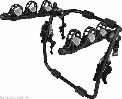 Car 3 Bike Bicycle Carrier Rack Holder Rear Boot Mount Strap On Luxury New Trunk