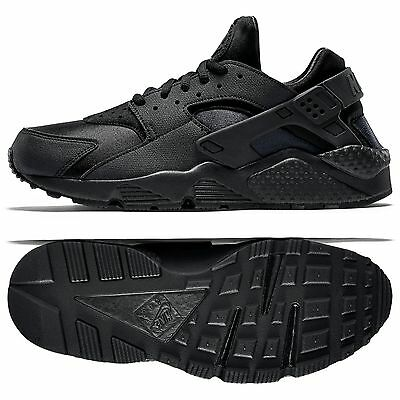 715d60382491 NIKE WMNS AIR Huarache Run 634835-009 Triple Black Women s Shoes ...