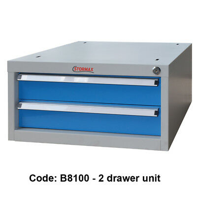 Stormax Work Bench 2 Drawer Unit - Shipping Aust Wide