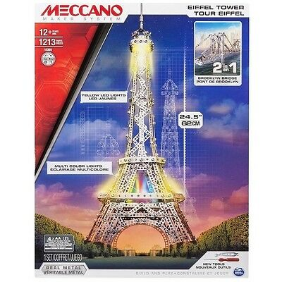 Meccano Special Edition 2-in-1 Eiffel Tower & Brooklyn Bridge Set