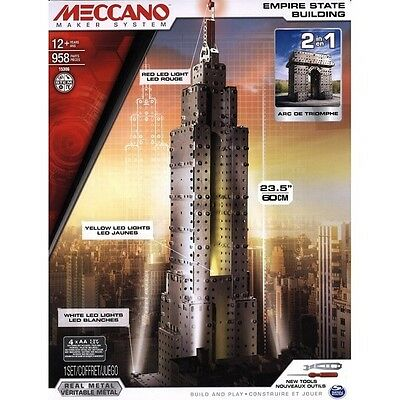 Meccano Special Edition 2-in-1 Empire State Building & Arc de Triomphe Set