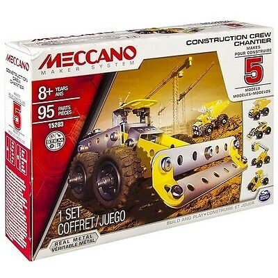 Meccano Construction Front Loader 5 Model Starter Set