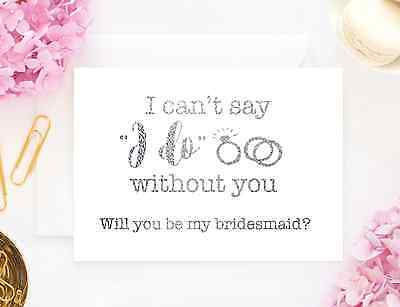 Gold Foil Card, Will you be my bridesmaid? Wedding personalised card question
