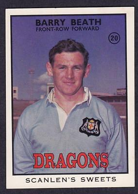 Scanlens 1968 B Dragons Barry Beath No.20