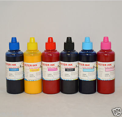 6X100ml Sublimation ink for epson 1400 Artisan 1430 printer cartridge CIS CISS