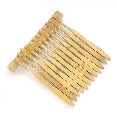 12 Pack Bamboo Toothbrushes Bactericidal Medium Brushes For Adult Oral Care