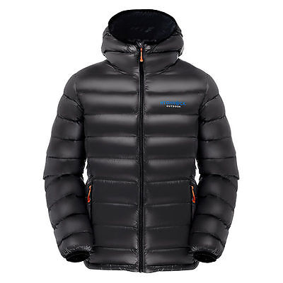 HIGHROCK Urltra Light Duck Down Jackets Camping Climbing Ski with Cap For Men