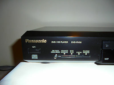panasonic dvd cd player dvd rv32 schwarz mit fernbedienung. Black Bedroom Furniture Sets. Home Design Ideas
