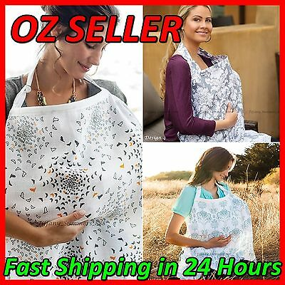 100% Breathable Cotton 3 in 1 Baby Breastfeeding Nursing Cover Apron Blanket