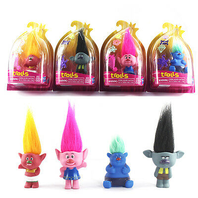 New Dreamwork Movie Trolls Toys Action PVC Figures Poppy Branch Critter Skitter