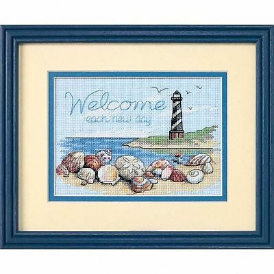 Dimensions - Mini Counted Cross Stitch Kit - Welcome Each New Day - D65032