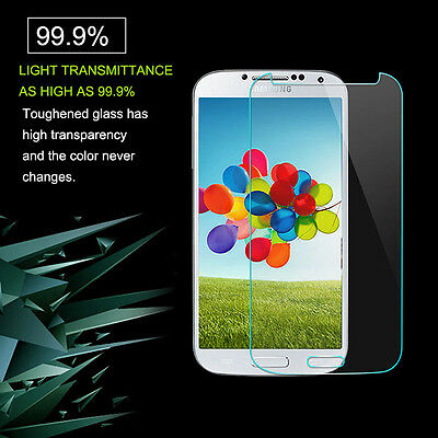 Tempered Glass Screen Protector Film  Samsung Galaxy S4 I9500 Genuine 9H Great