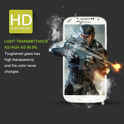 Tempered Glass Screen Protector Film  Samsung Galaxy S4 5.1 Inch 9H Clear Great
