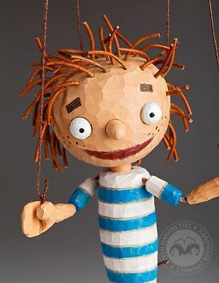 Alfred Wooden Marionette String Puppet (hand made in Czech Republic)