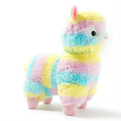 Alpacasso Arpakasso Amuse Rainbow Striped Llama Alpaca Stuffed Plush Doll 5''