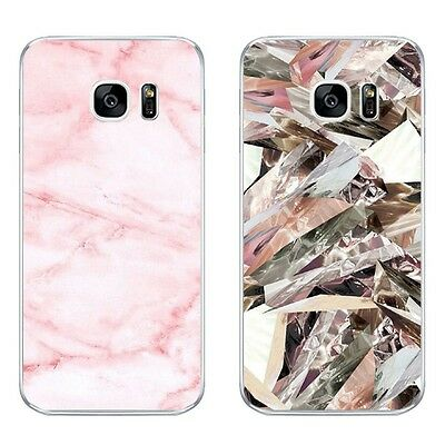 For Samsung Galaxy S6 S7 C7 Edge Case Soft TPU Back Phone Cover Shell Marble