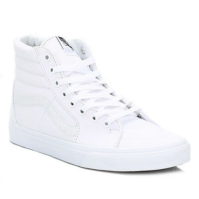 6fd5d249b64f Vans Men High Tops White SK8 Hi Suede Trainers LaceUp Sport Shoes Casual  VD5IW00