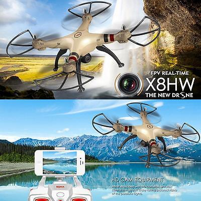 Syma X8HW 2,4GHz 6 axes RC Quadcopter Set Baromètre WIFI FPV 2MP Caméra EU plug