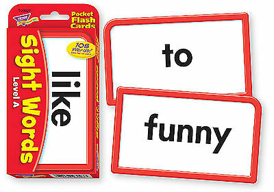 Sight Words A - Pocket Flash Cards - Sturdy Educational 2 Sided Cards