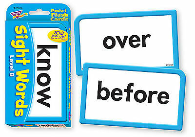 Sight Words B - Pocket Flash Cards - Sturdy Educational 2 Sided Cards