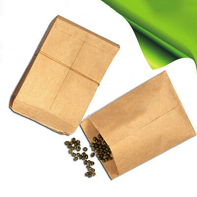 New 100 Kraft Paper Seed bags for the control of pollination in vegetable Gift