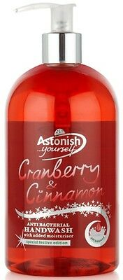 Astonish Hand Wash 500ml Cranberry & Cinnamon Christmas Scent Anti-Bacterial