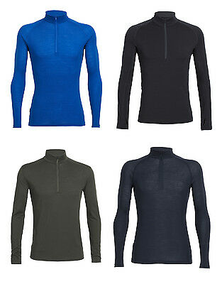 ICEBREAKER Mens Everyday Long Sleeve Half Zip - sportliches Oberteil für Herren