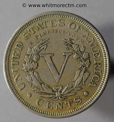 Coin United States USA 5 Cent Liberty Nickel 1896 - XB532