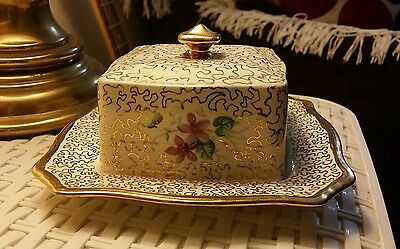 Royal Winton Gold Chintz Butter Dish