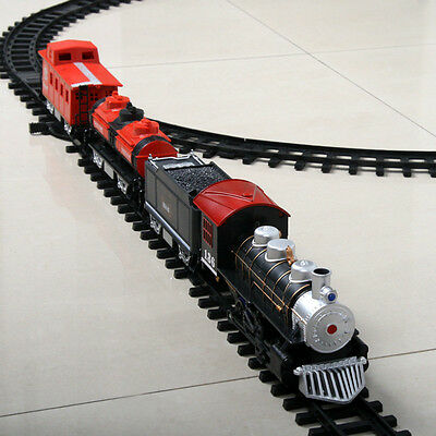 Electric Train  Xmas Set Educational Toys Gift-track Railway Car Baby Kids Gift