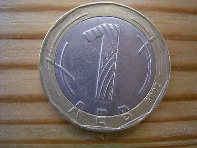 2002 Bulgaria 1 leva Coin Collectable