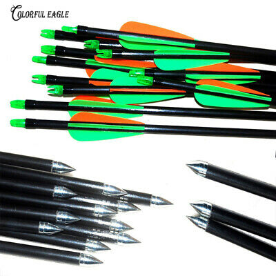 Archery Hunter Nocks  Steel Arrows Fiberglass Hunting & Target Practice /LOT