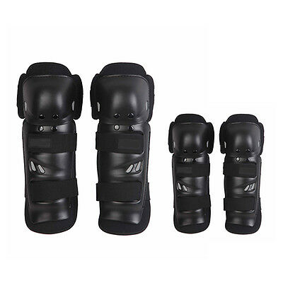 Elbow Knee Shin Armour Guard Pads Set for Motocross Motorcycle Bike Bicycle 4pcs