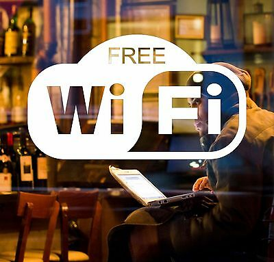 FREE WiFi Sticker Window Decal - sign for Cafe, Bar Club, Office, Shop