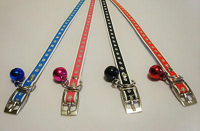 Cat Collar - Fully Adjustable - Sequin Effect - With Bell - Cheapest On eBay