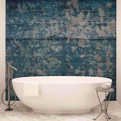 WALL MURAL PHOTO WALLPAPER XXL Abstract Painted Wood Texture Blue (2628WS)