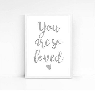 You are so loved-A4 print-nursery print-children's print-quote-kids decor