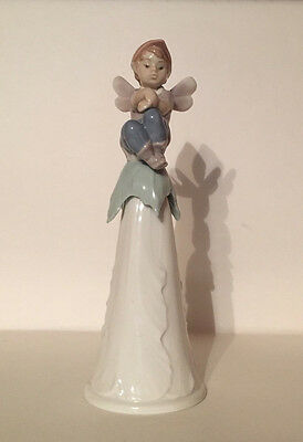 "Lladro #6415 -  ""it's A Boy"" - 7.75"" Bell - Signed By Rosa Lladro In 2004"