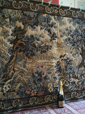"A Stunning French Heavy Wool, Vedure Style Wall Hanging/Tapestry(80.75"" x 48"")"