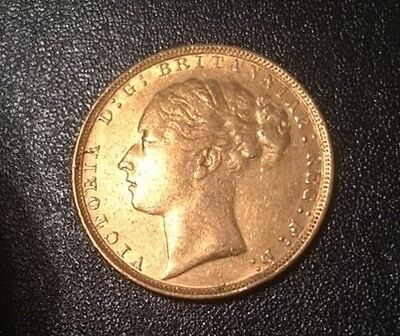 Full Gold Sovereign 1880 QUEEN VICTORIA Young Head