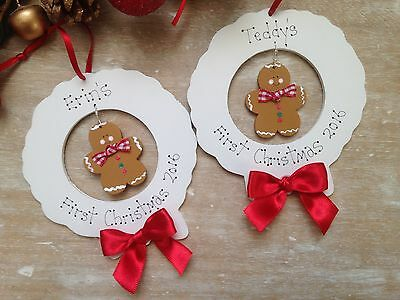My First 1st Christmas Tree Personalised Gift Decoration Bauble Keepsake Baby