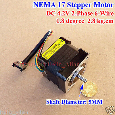 NEMA 17 Hybrid Stepper Motor shaft for 5mm pulley RepRap CNC Prusa 3D printer